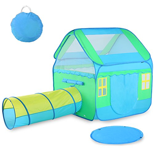 Kids Play Tent Vbestlife Children Pop Up Tunnel With 3 In 1 Includes Large Playhouse Crawl And Mat Easy To Setup